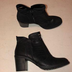 Arizona Jean Co Lattice Black Ankle Booti…